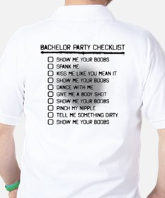 Bachelor (Checklist on Back) Golf Shirt