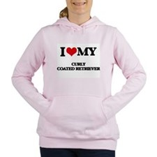 I love my Curly Coated R Women's Hooded Sweatshirt