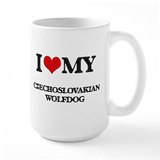 I love my Czechoslovakian Wolfdog Mugs