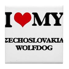 I love my Czechoslovakian Wolfdog Tile Coaster