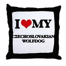 I love my Czechoslovakian Wolfdog Throw Pillow