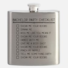Bachelor Party Checklist Spray Painted Flask