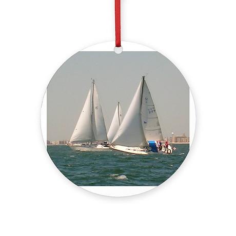 Sailing with Sailboats Christmas Tree Ornament