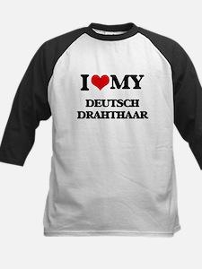 I love my Deutsch Drahthaar Baseball Jersey