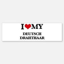 I love my Deutsch Drahthaar Bumper Bumper Bumper Sticker