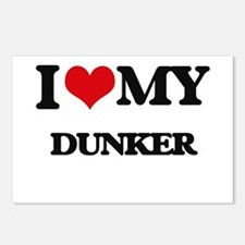 I love my Dunker Postcards (Package of 8)