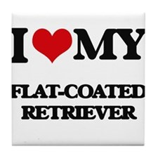 I love my Flat-Coated Retriever Tile Coaster