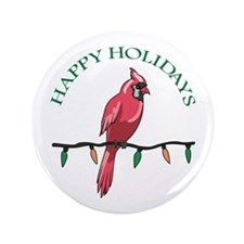 """HAPPY HOLIDAYS 3.5"""" Button (100 pack)"""