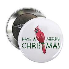 "CHRISTMAS CARDINAL 2.25"" Button (100 pack)"