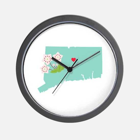 Connecticut State Map Wall Clock