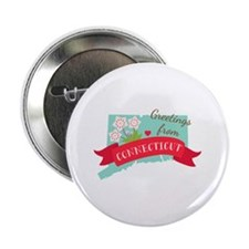 "Greetings from Connecticut 2.25"" Button (100 pack)"