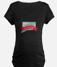 Greetings from Connecticut Maternity T-Shirt