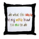 My Wife's Head Throw Pillow