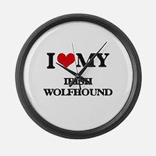 I love my Irish Wolfhound Large Wall Clock