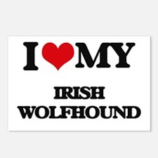 I love my Irish Wolfhound Postcards (Package of 8)