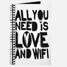 All you need is love and wifi Journal