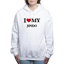 I love my Jindo Women's Hooded Sweatshirt