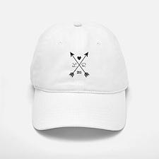 Personalized Retro Heart And Arrows Baseball Baseball Baseball Cap
