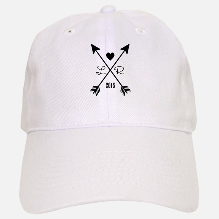 Personalized Retro Heart And Arrows Baseball Baseball Baseball Cap
