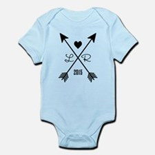Personalized Retro Heart And Arrows Body Suit