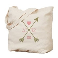 Personalized Pink Heart And Arrows Tote Bag