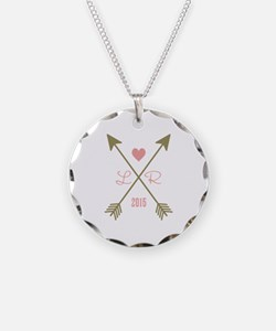 Personalized Pink Heart And Necklace