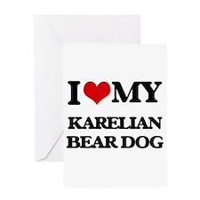 I love my Karelian Bear Dog Greeting Cards