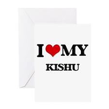 I love my Kishu Greeting Cards