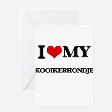 I love my Kooikerhondje Greeting Cards