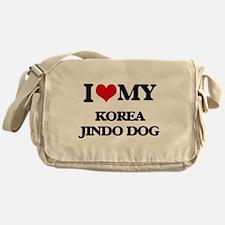 I love my Korea Jindo Dog Messenger Bag