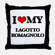 I love my Lagotto Romagnolo Throw Pillow