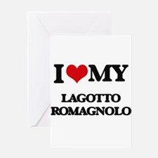 I love my Lagotto Romagnolo Greeting Cards
