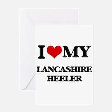 I love my Lancashire Heeler Greeting Cards