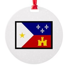 FLAG OF ACADIANA Ornament