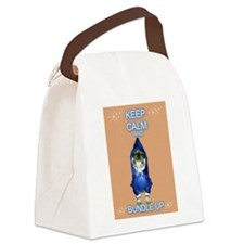Timmy The Pampered Pug Canvas Lunch Bag