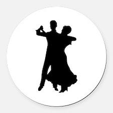 BALLROOM DANCERS Round Car Magnet