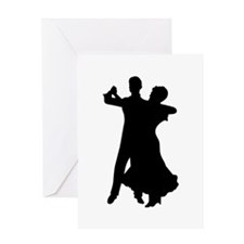 BALLROOM DANCERS Greeting Cards