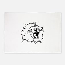 LION HEAD 5'x7'Area Rug