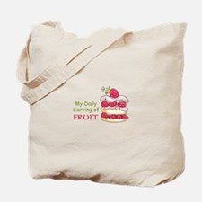 Daily Serving of Fruit Tote Bag