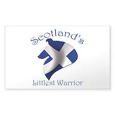 Scotland's Littlest Warrior Decal