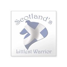 "Scotland's Littlest Warrior Square Sticker 3"" x 3"""