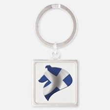 Scotland's Littlest Warrior Square Keychain