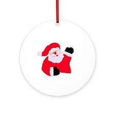 Santa Waving Ornament (Round)