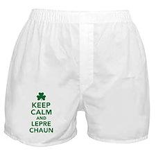 Keep calm and Leprechaun Boxer Shorts