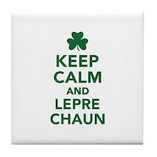 Keep calm and Leprechaun Tile Coaster