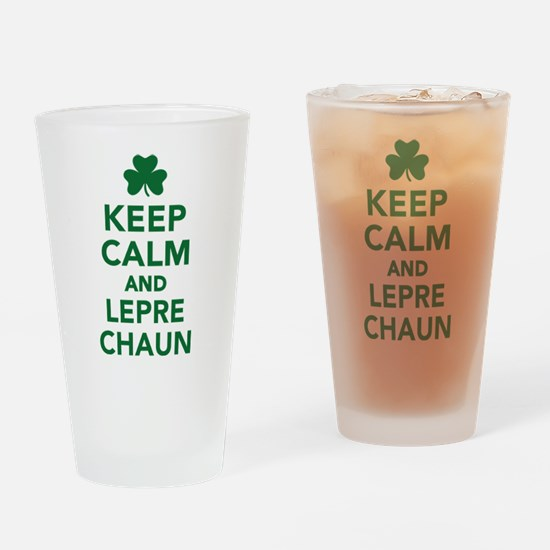 Keep calm and Leprechaun Drinking Glass