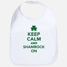 Keep calm and shamrock on Bib