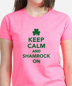 Keep calm and shamrock on Tee