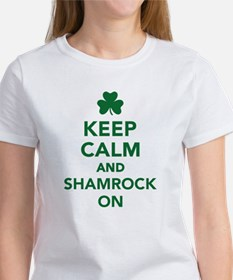 Keep calm and shamrock on Women's T-Shirt