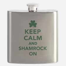 Keep calm and shamrock on Flask